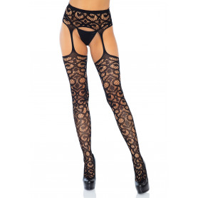 Collant Scroll Lace Garterb. Stockings