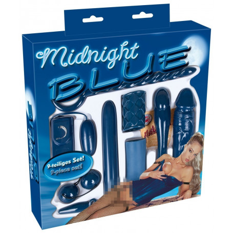 Kit sex toys vibratore fallo realistico vaginale anale masturbatore maschile set Midnight Blue