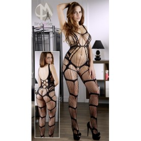 Tuta catsuit spider bodystocking black dream