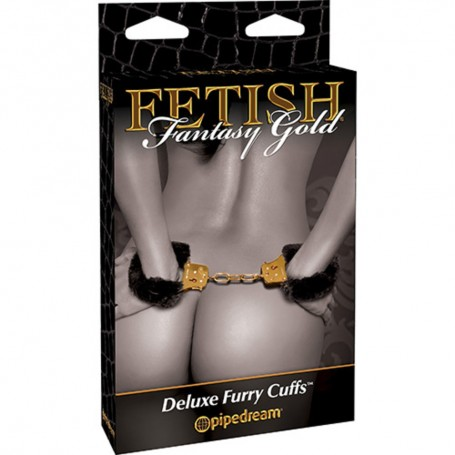 MANETTE FETISH FANTASY GOLD DELUXE FURRY CUFFS