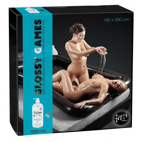 Telo copri letto in vinile con bordo con bordo per massaggi