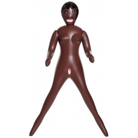 Bambola Gonfibile colore scuro African queen