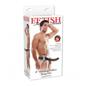 Vibratore strap-on indossabile cavo fetish fantasy 8 vibrating hollow strap-on