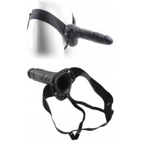 Fallo dildo indossabile strap on cavo Con testicoli Real Rapture 8 Black