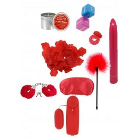 Kit sex toys vibratore anello fallico dildo fallo con manette e candela massaggi