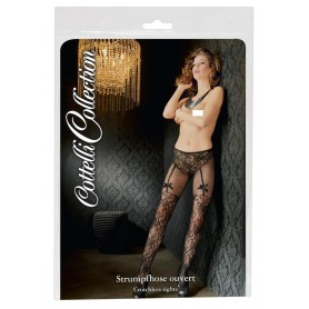 Calze donna collant con apertura intima sexy pizzo a rete