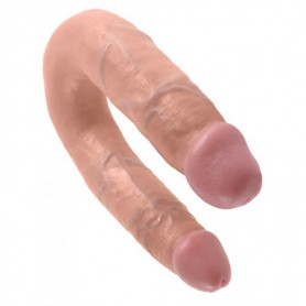 Fallo doppio vaginale anale dildo realistico king cock flesh shaped medium flesh