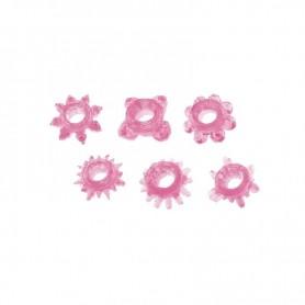Kit 6 pz sex toys contro eiaculazione precoce anello fallico pene