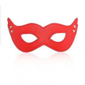 Mistery mask red mschera fetish bondage per uomo e donna in pelle sintetica sexy