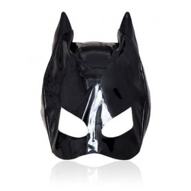 Cat mask large black maschera fetish bondage nero sexy per donna neutra bocca