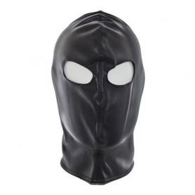 Bondage only eyes mask black Maschera bondage sexy fetish in eco pelle integrale neutra