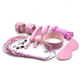 Top bondage kit set rosa morso gag ball manette pinze per capezzoli corda collare fetish