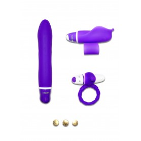 Kit set sex toys vibratore vaginale stimolatore clitoride anello fallico vibrante in silicone