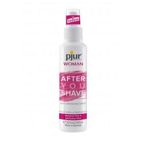 spray lenitivo contro irritazione post rasatura per donna pjur con aloe vera