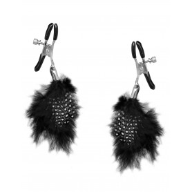 Pinze stringi capezzoli con piume black feather fetish fantasy