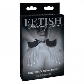 Manette bondage fetish cuffs nero costrittivo in nylon cuffs limited