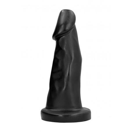 Fallo nero realistico maxi con ventosa dildo vaginale anale nero xxl all black