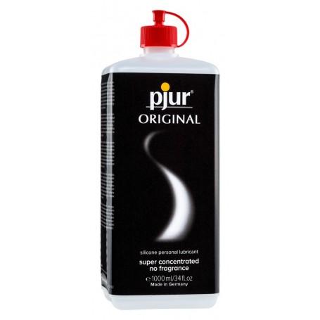 Lubrificante intimo vaginale anale pjur original gel 1 lt a base silicone salva preservativo