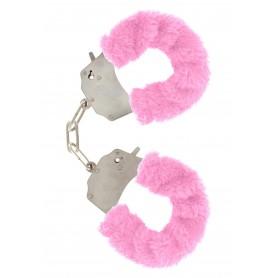 manette Furry Fun Cuffs pink