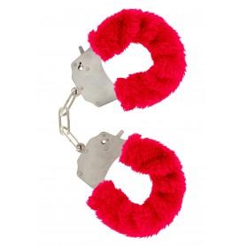 manette Furry Fun Cuffs red