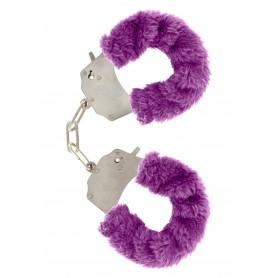 manette Furry Fun Cuffs purple