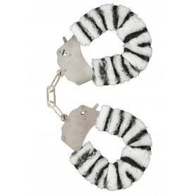 manette Furry Fun Cuffs zebra