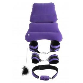 set purple pleasure bondage set