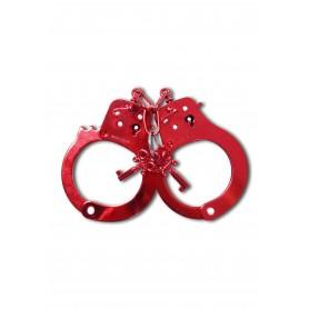 manette sexy polsini in metallo vere bondage fetish acciaio rosso gioco erotico