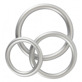 Metallic Silicone Cock Ring Set