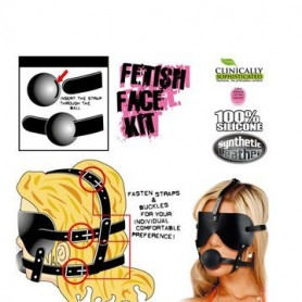 Maschera con morso fetish gag ball kit